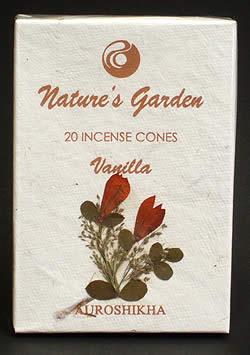 バニラ(VANILLA)の香り - オウロシカコーン香の写真 - 箱の表紙にある押し花は1つづつ違います。申し訳ありませんがアソートでお送りさせていただきます。