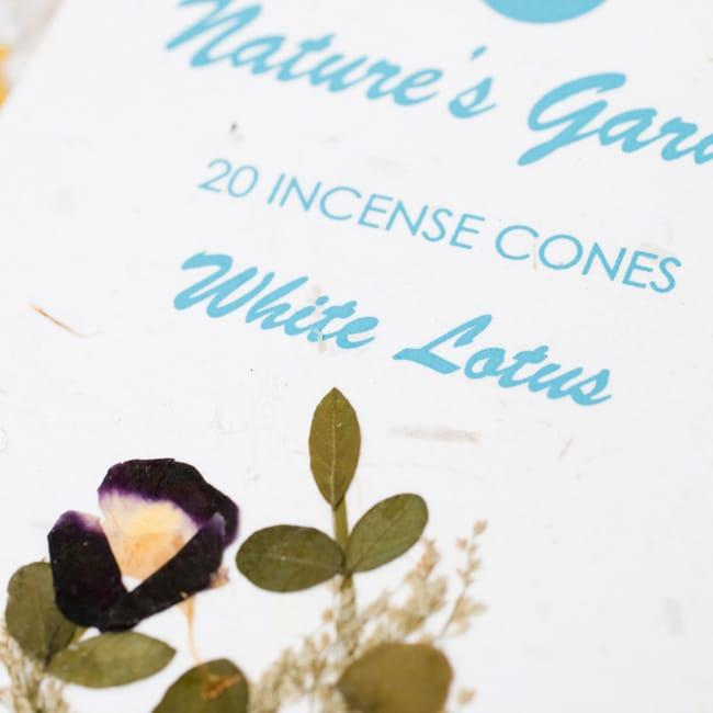 白蓮(WHITE LOTUS)の香り - オウロシカコーン香の写真2 - オウロシカオリジナルの模様箱です。こちらに香名が記載されています。