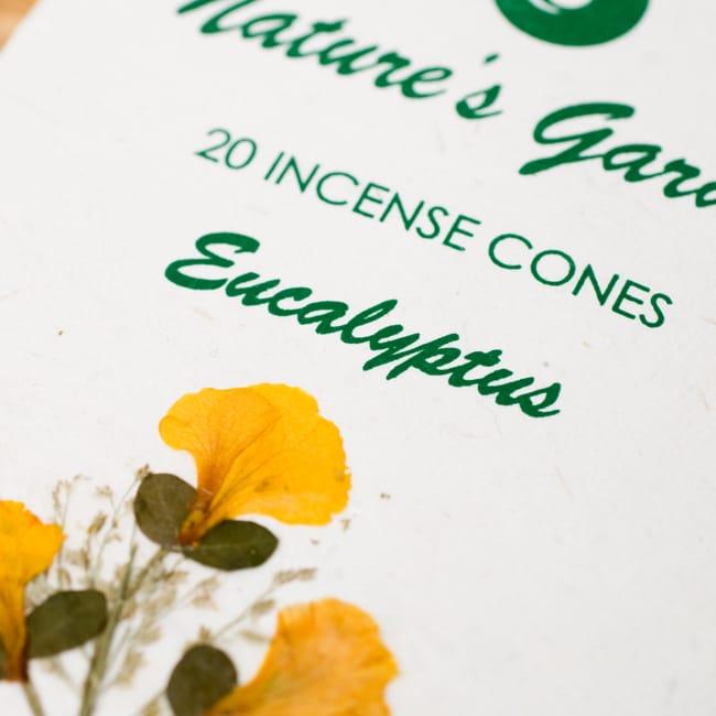 ユーカリ(EUCALYPTUS)の香り - オウロシカコーン香 2 - オウロシカオリジナルの模様箱です。こちらに香名が記載されています。