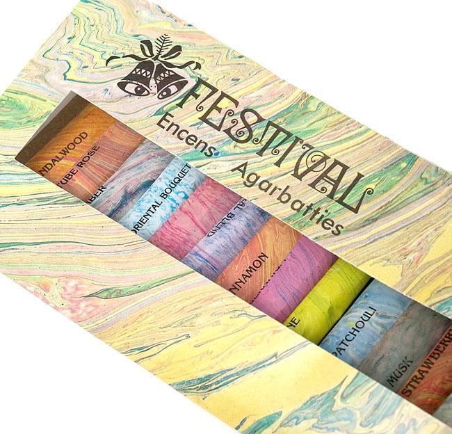18種類のお香セット - FESTIVAL 2 - 綺麗なパッケージ