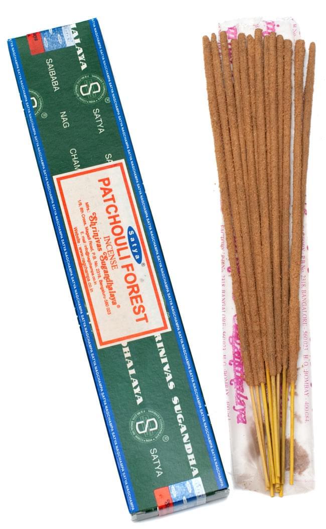 【Satya】パチョリーフォレスト香 Patchouli Forest Incenseの写真