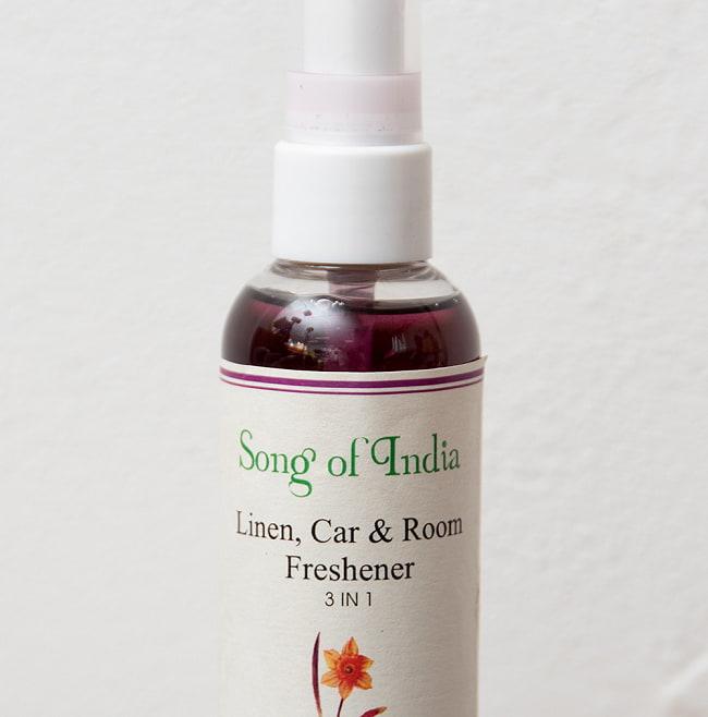 アフロデシア(Aphrodesia) - Song of India【お香スプレー】 3 - ラベルの拡大です。インド風で素敵なラベルです