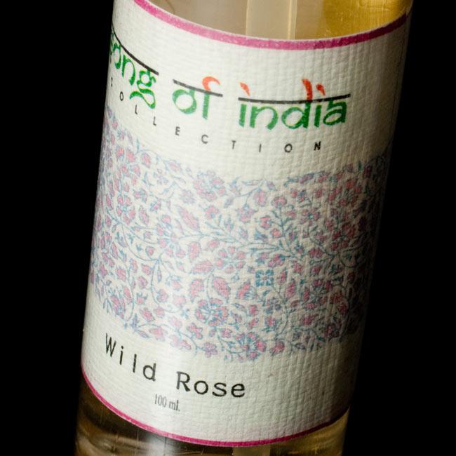 ワイルド・ローズ(Wild Rose) - Song of India【お香スプレー】 3 - ラベルの拡大です。インド風で素敵なラベルです