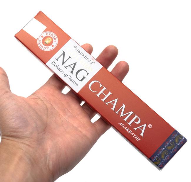 Golden Nag Champa香の写真3 - サイズはこんな感じ。一般的なお香のサイズです