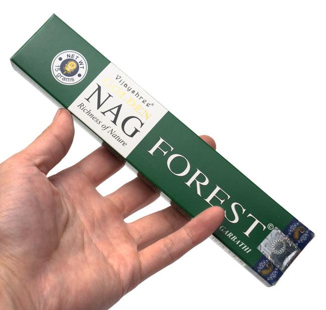 Golden Nag Forest香の写真3 - サイズはこんな感じ。一般的なお香のサイズです