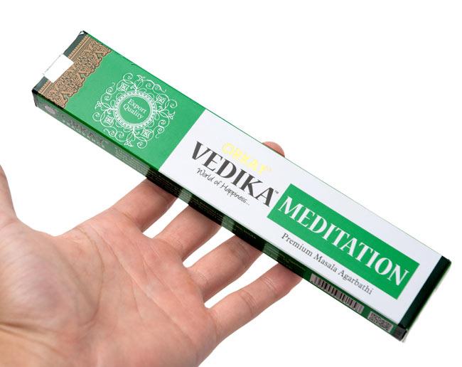 Vedika Meditation香の写真3 - サイズはこんな感じ。一般的なお香のサイズです