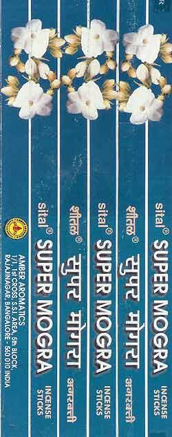 Sital Super Mograの写真 - パッケージを開いたところ。いかにもインドのお香ですね