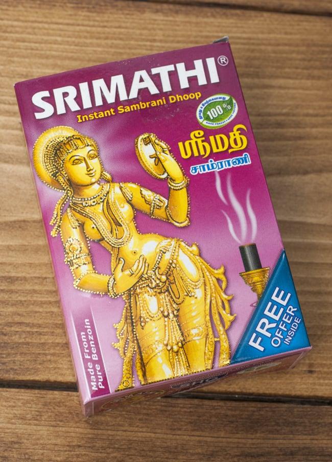 貴婦人の安息香 SRIMATHI - Instant Sambrani cone 柱型の写真3 - パッケージを見てみました。