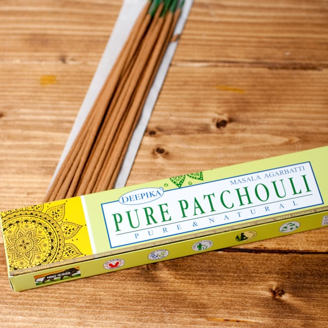 Deepika ピュア・パチュリ香 Pure Patchouliの写真2 - パッケージの拡大写真です