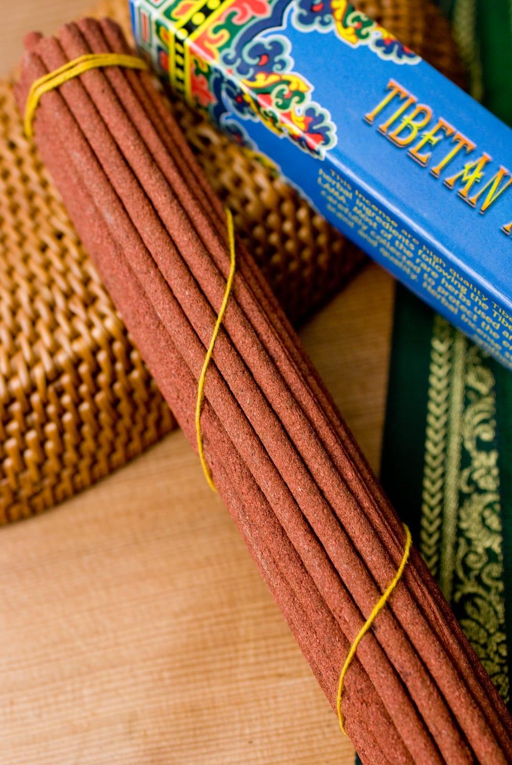 Tibetan Meditation Incense-チベタンメディテーション香 2 - このようにインド香とは太さが異なっています。