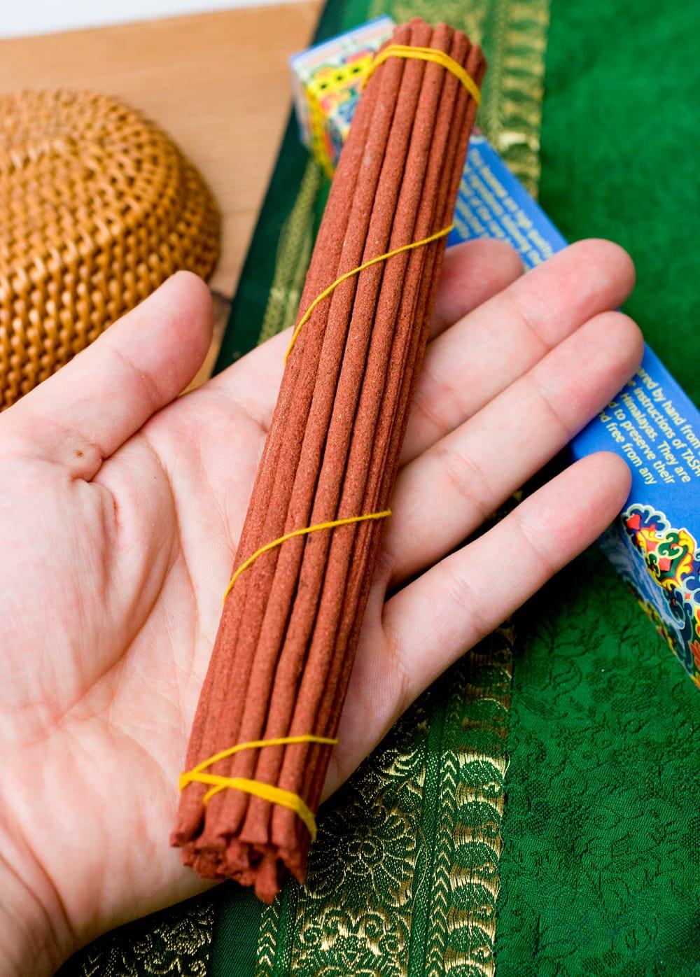 Tibetan Meditation Incense-チベタンメディテーション香 3 - 長さはだいたいこのような大きさになります。