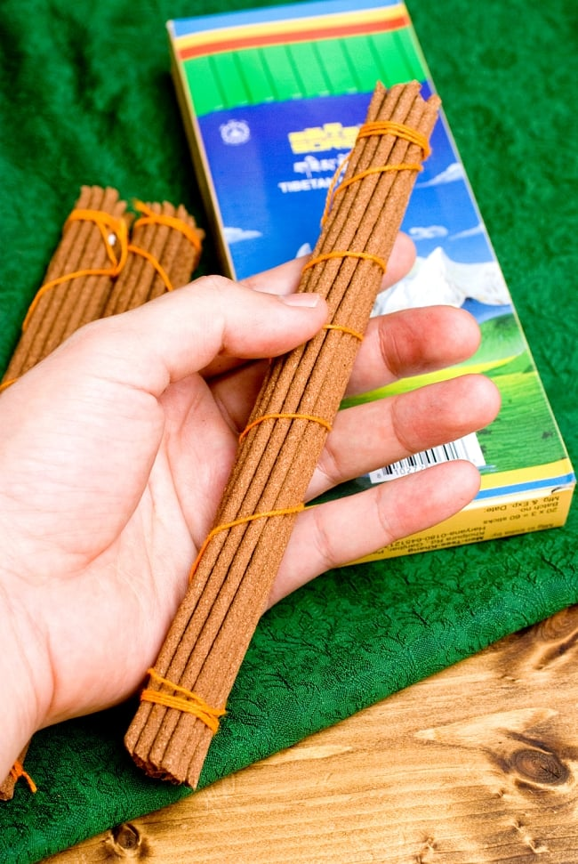 【約60本入り】Sorig チベタンインセンス【メン・ツィー・カンのお香】 6 - このような長さになっています。