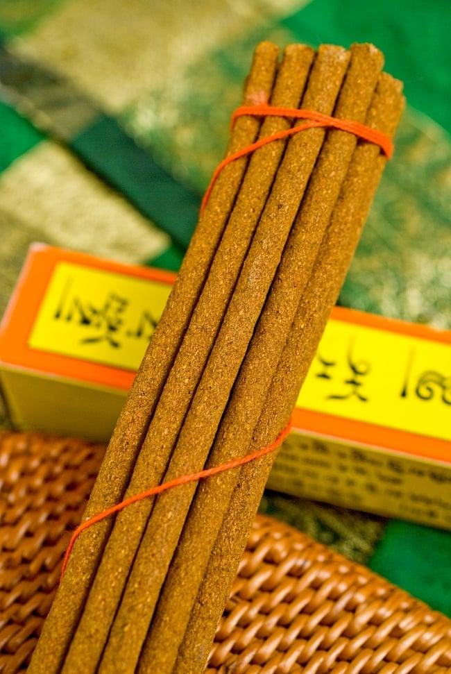 Norling Incense -ノーリングチベタン香の写真2 - このようにインド香とは太さが異なっています。