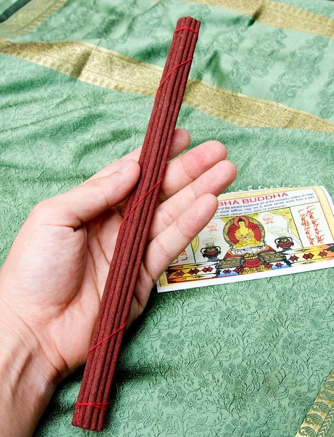 AMITABHA BUDDHA スティック香 3 - 長さはだいたいこのような大きさになります。