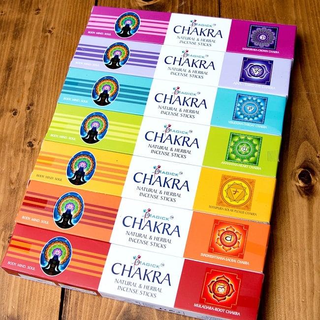 7チャクラ香セットボックス 心と身体に安らぎを - 7 CHAKRA Natural & Herbal Incence Sticks 4 - チャクラごとのお香が入っているので、合計7箱になります。