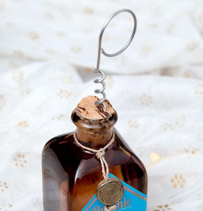 Organic GOODNESS - リードディフューザー -ウード-沈香の香り 6 - 小さなコルクで栓がされています。付属の栓抜きで開けるのはちょっと難しいです。