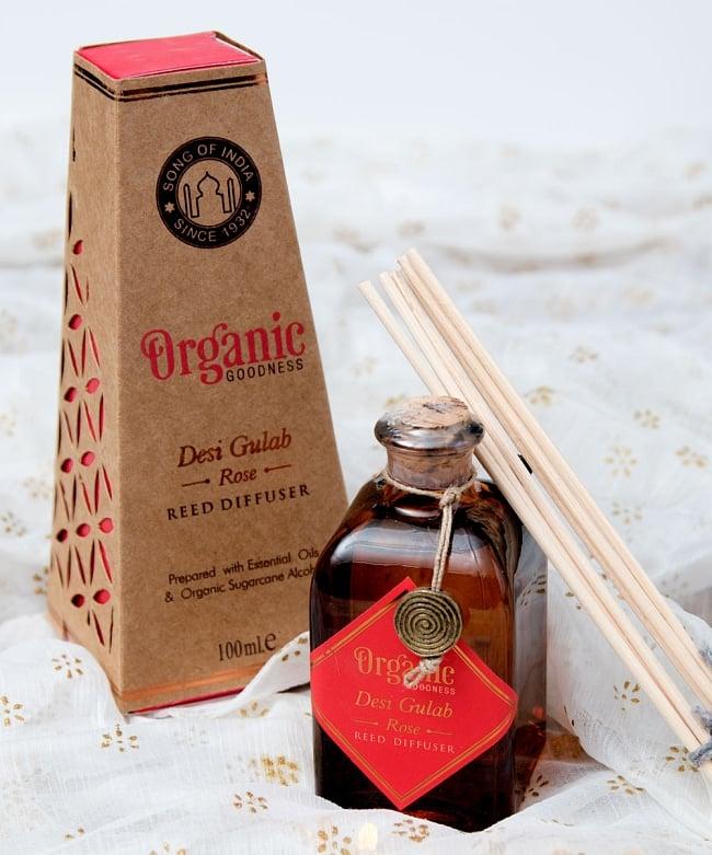Organic GOODNESS - リード・ディフューザー -Desi Gulab - ローズの写真
