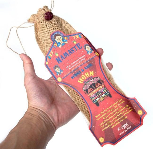 Great Indian Incense - SNAKE CHARMAR - ラベンダー&ベルガモット 7 - サイズ比較のために手に持ってみました