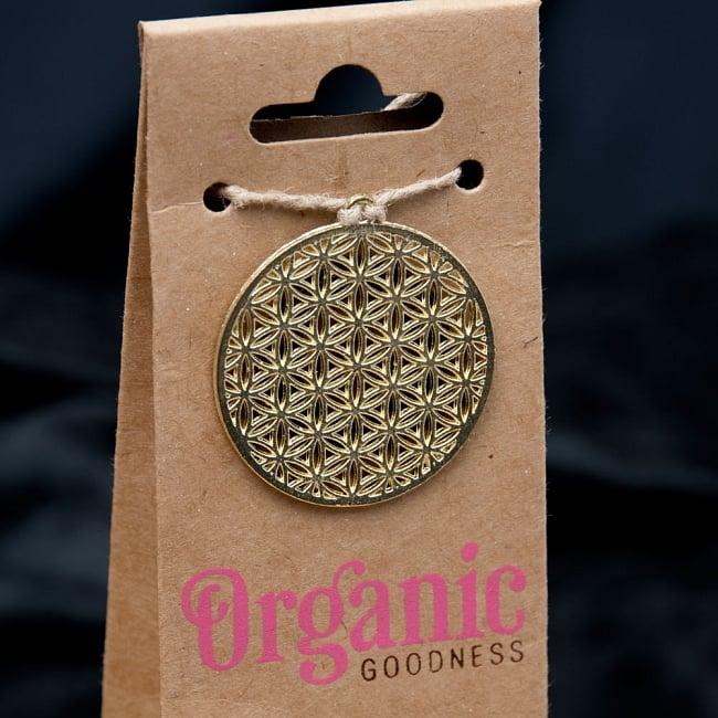 お香立つきオーガニックコーン香ギフトセット - ローズ 3 - Flower of Lifeの部分を拡大しました