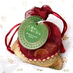 オーガンジーの袋入りコーンお香セット - 山の薔薇