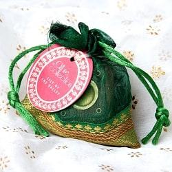 オーガンジーの袋入りコーンお香セット - 谷に咲く百合