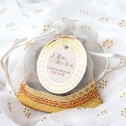 オーガンジーの袋入りコーンお香セット - サンダルウッド