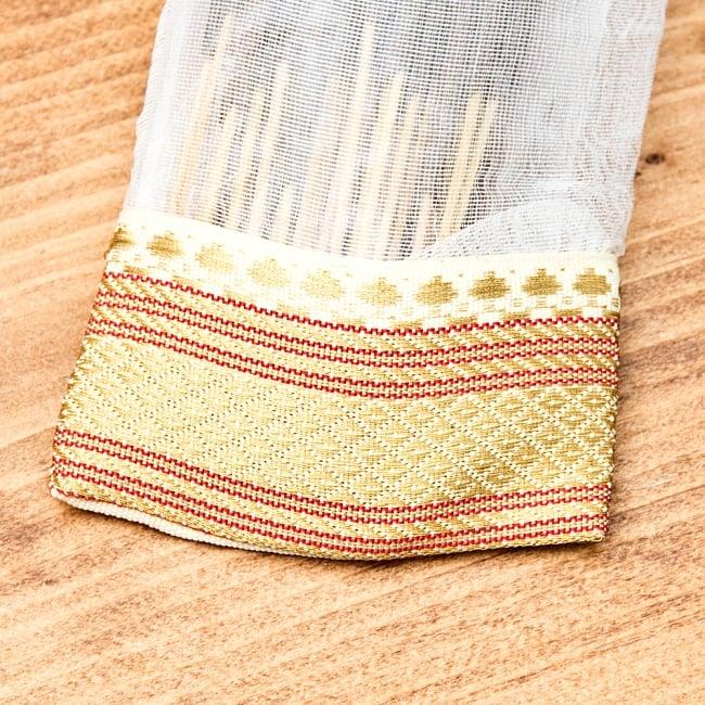 スティック香&お香立てセット[Allure Collection] - サンダルウッド 3 - インド模様のチロリアンテープの装飾がおしゃれな可愛いパッケージです。