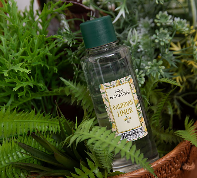 レモンの香りの消毒用アルコール - コロンヤ - DALINDAN LIMON - 200ml 2 - レモンのおしゃれなラベルデザインのパッケージです