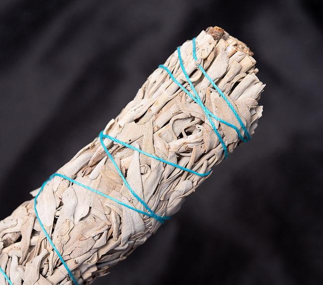 カリフォルニア ホワイトセージ 無農薬 ワンド バンドル スティック [16.5cm  45g程度]スマッジング 浄化 3 - 端っこはこんな感じです