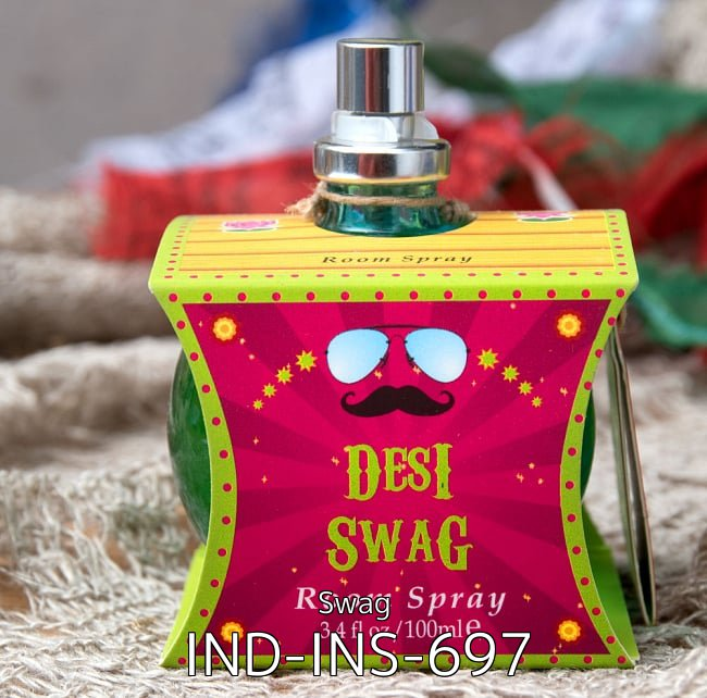 【自由に選べる4個セット】インドなデザインのルームスプレー 5 - インドなデザインのルームスプレー - The Great Indian Caravan - Desi Swag(IND-INS-697)の写真です