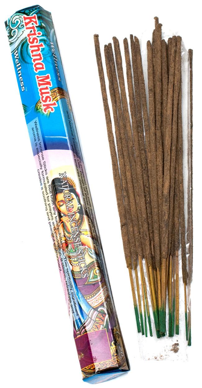 【6箱セット】クリシュナムスク香 Wellness Krishna Muskの写真2 - クリシュナムスク香の写真です