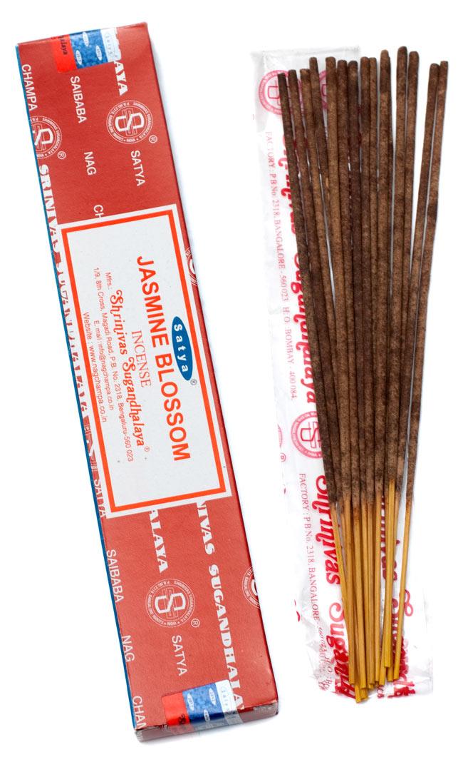 【12箱セット】ジャスミン香 Satya Jasmine Blossom Incenseの写真2 - Satya ジャスミン香の写真です