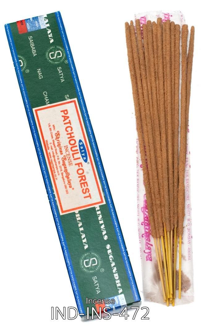 【12箱セット】パチョリーフォレスト香 Satya Patchouli Forest Incenseの写真2 - Satya パチョリーフォレスト香の写真です