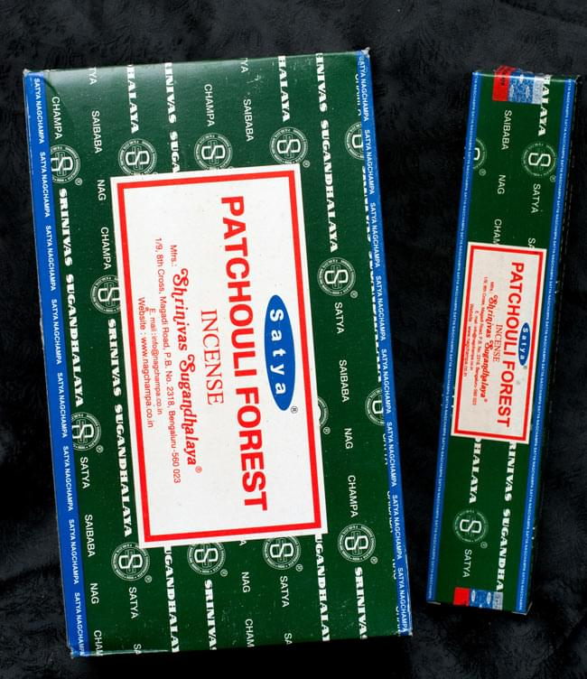 【12箱セット】パチョリーフォレスト香 Satya Patchouli Forest Incenseの写真