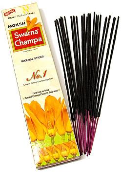 【お得!12箱セット】Moksh Swarna Champa 箱入りの写真2 - Moksh Swarna Champa 箱入りの写真です