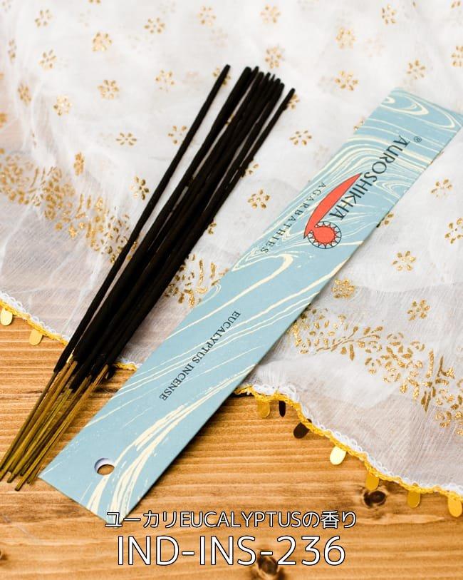 自由に選べる6種類セット オウロシカのスティック香 高品質なインドのお香 4 - オウロシカ香 - ユーカリ(EUCALYPTUS)の香り(IND-INS-236)の写真です