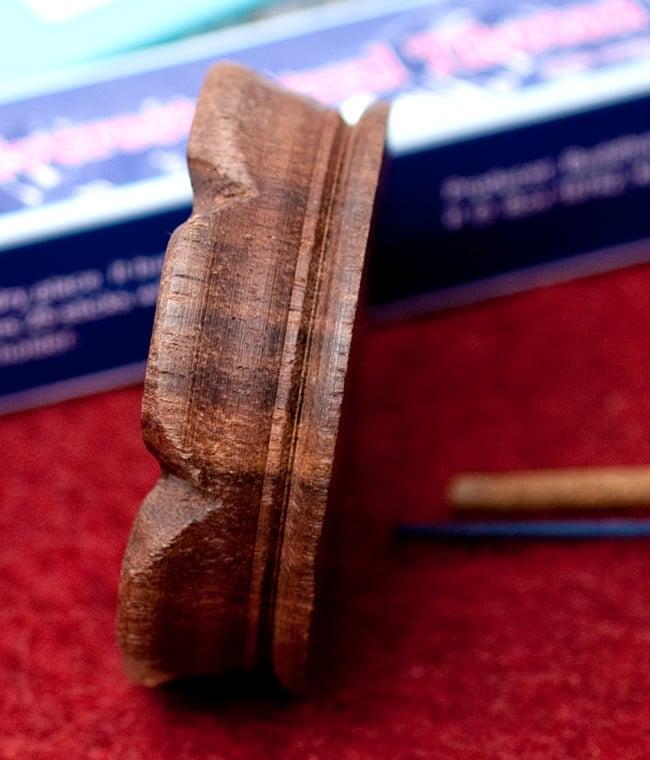 インド香&ネパール香用 ロータス型立て【6.8cm】の写真4 - 側面の写真です
