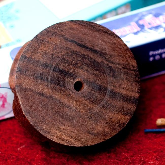 インド香&ネパール香用 ロータス型立て【6.8cm】の写真5 - 裏面の写真です