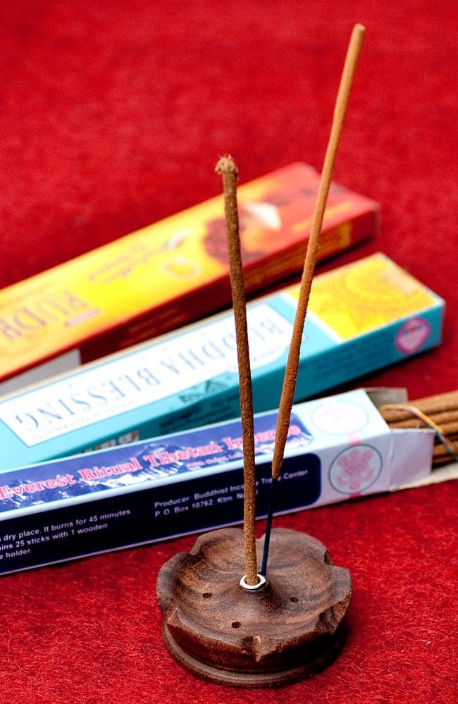 インド香&ネパール香用 ロータス型立て【6.8cm】の写真