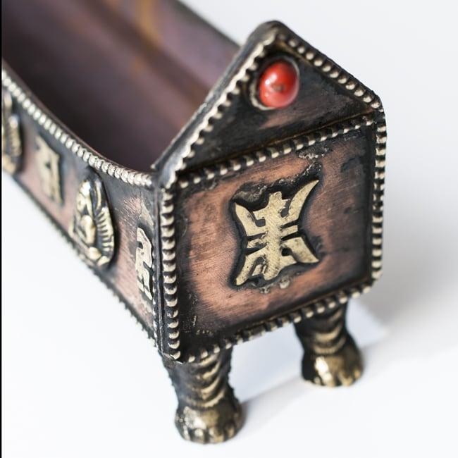 チベット香用お香立て - 小の写真2 - 猫脚がキュート