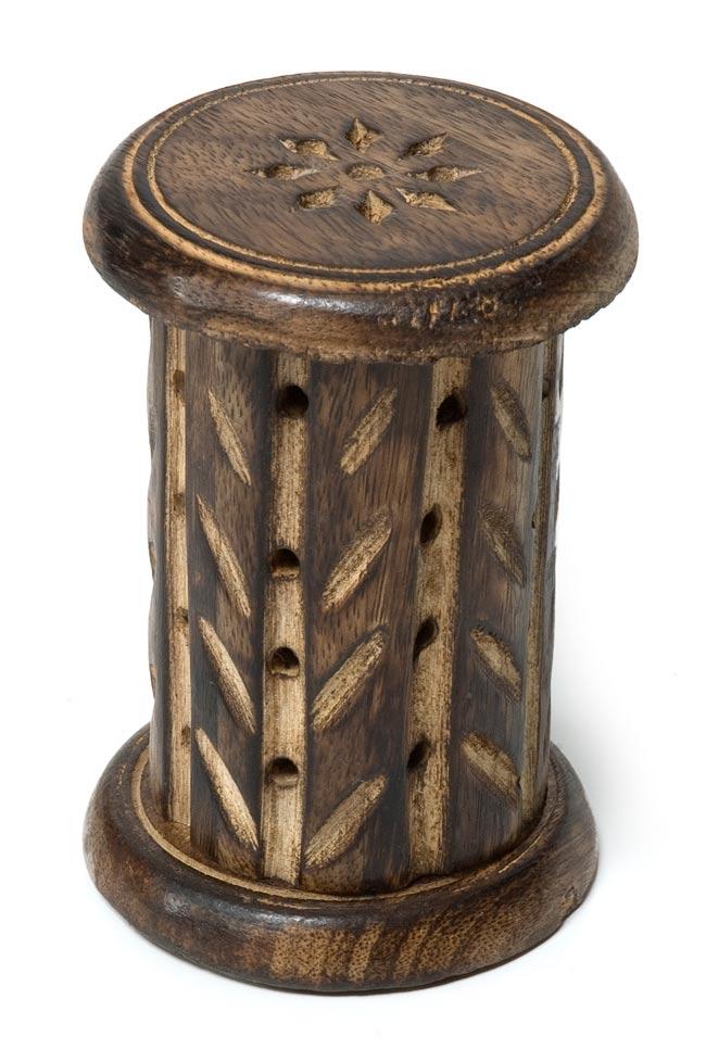 マンゴーウッド 縦型コーン香立て - 筒型【縦11.5cm】の写真