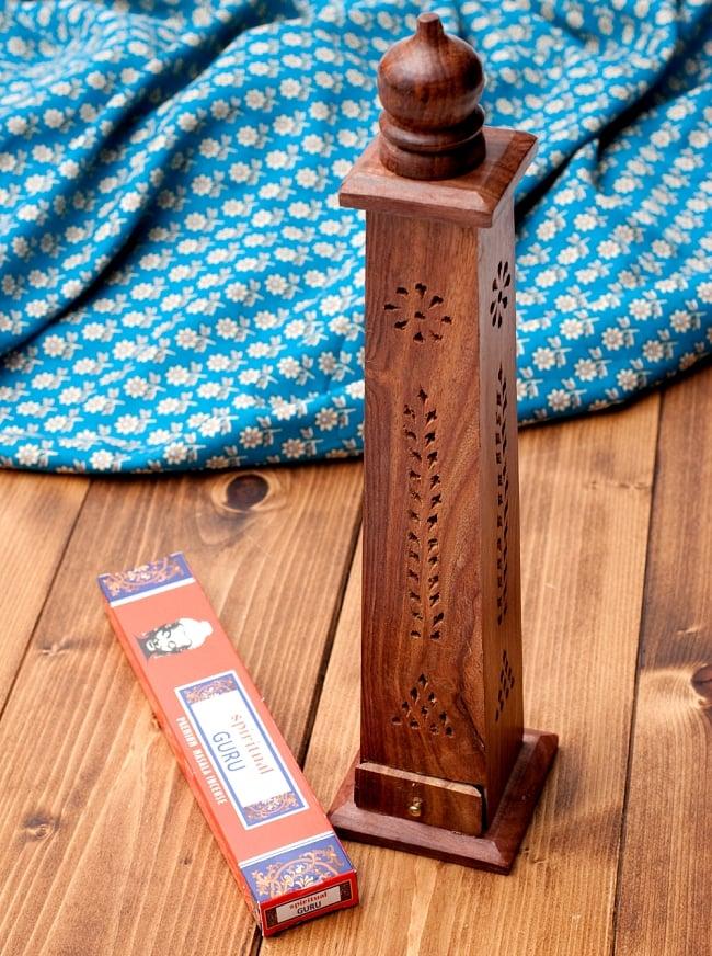 シーシャムウッド タワー型お香立て【縦38.5cm】の写真
