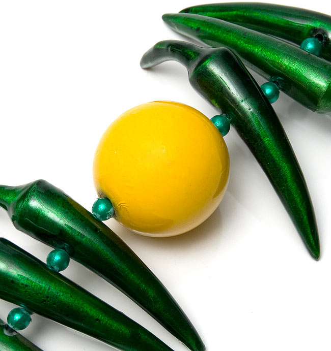 インドの魔除け - グリーンの写真3 - レモンを拡大しました。