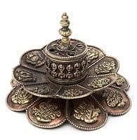 チベット香用蓮型お香立て【約12