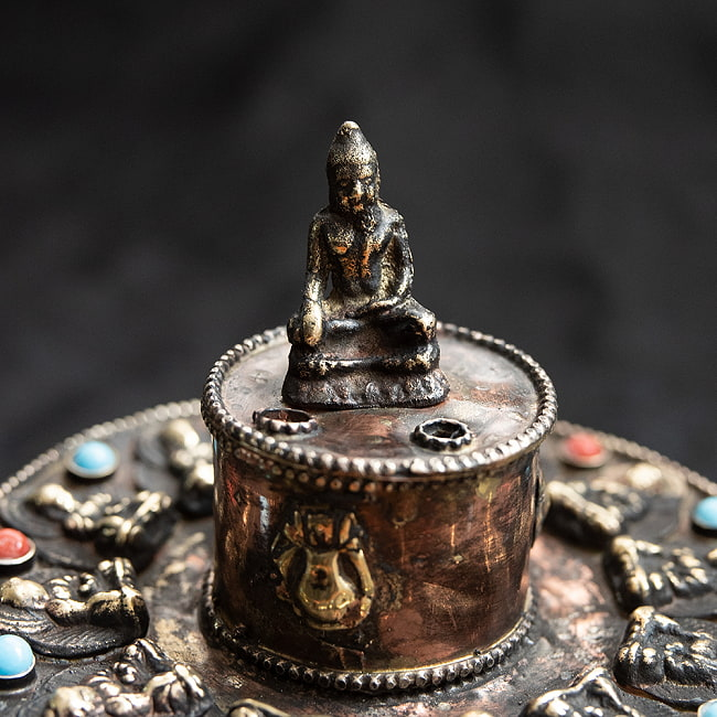 チベット香用アンティークお香立て[直径:約10.5cm]の写真2 - 拡大写真