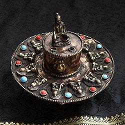 チベット香用アンティークお香立て[直径:約10.5cm]