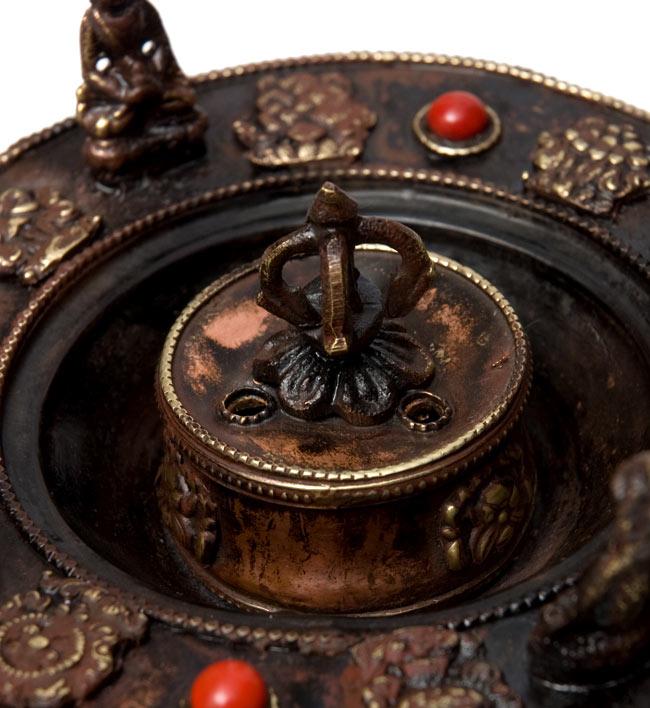 チベット香用アンティークお香立て[直径:約13.5cm]の写真2 - 拡大写真