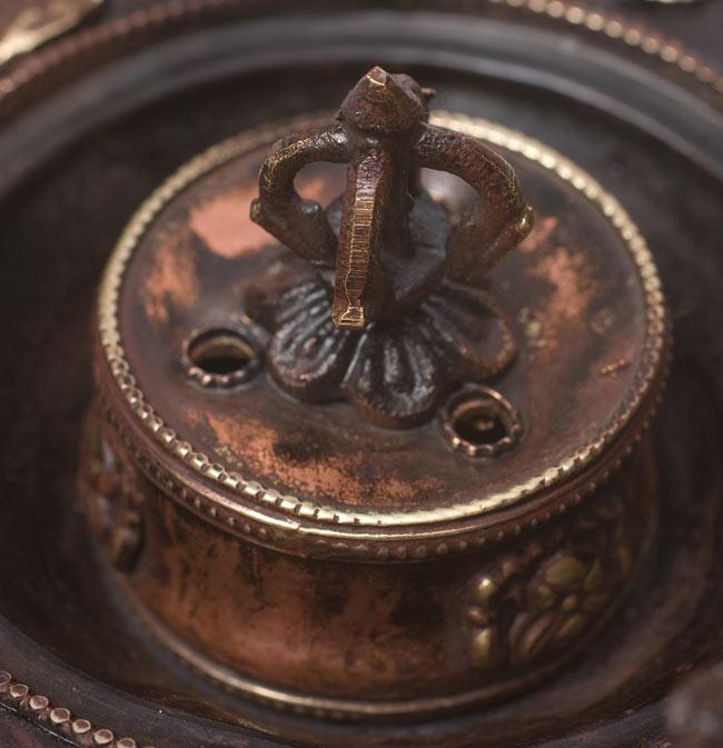 チベット香用アンティークお香立て[直径:約13.5cm]の写真3 - 拡大写真