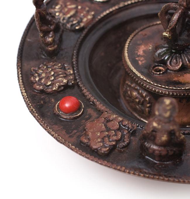 チベット香用アンティークお香立て[直径:約13.5cm]の写真5 - 拡大写真