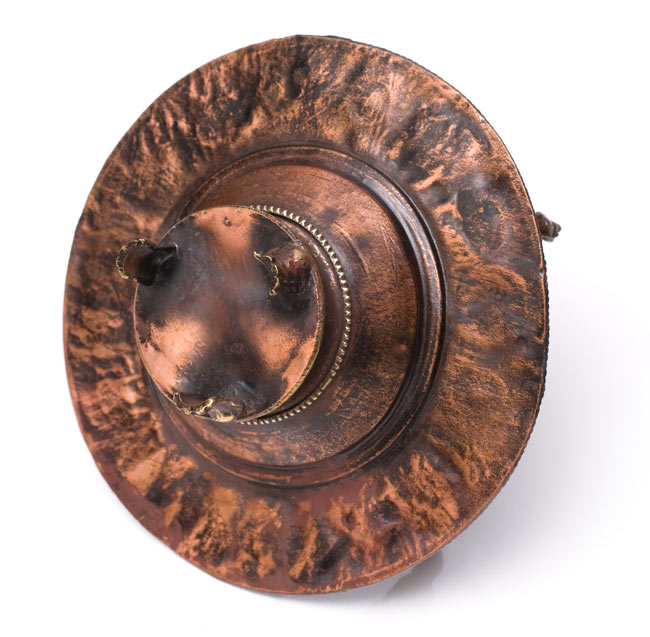 チベット香用アンティークお香立て[直径:約13.5cm]の写真7 - 裏面になります。